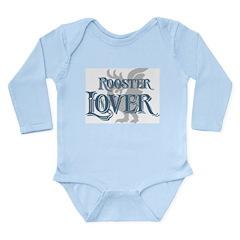 Rooster Lover Long Sleeve Infant Bodysuit