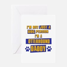 Otterhound Daddy Greeting Card