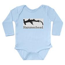 Vintage Hammerhead Shark Long Sleeve Infant Bodysu