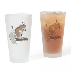 Squirrel Pint Glass