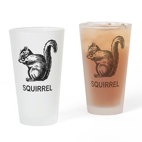 Vintage Squirrel Pint Glass