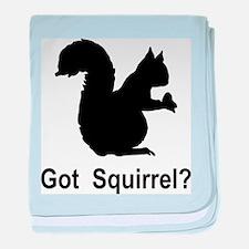 Got Squirrel baby blanket