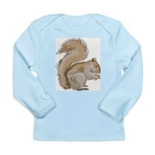 Realistic Squirrel Long Sleeve Infant T-Shirt