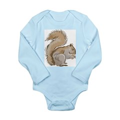 Realistic Squirrel Long Sleeve Infant Bodysuit