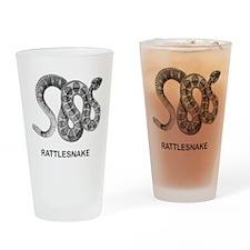 Vintage Rattlesnake Pint Glass