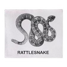 Vintage Rattlesnake Throw Blanket