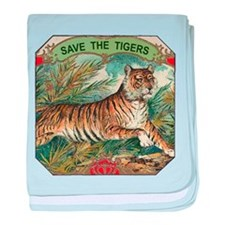 Save The Tigers baby blanket
