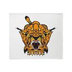Fierce Tiger Throw Blanket
