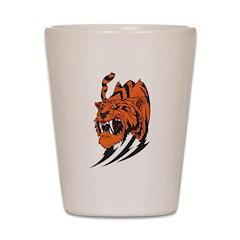 Tribal Tiger Shot Glass