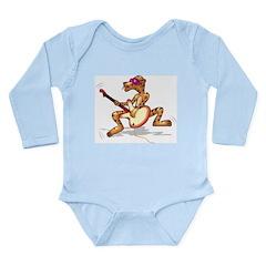 Funky Tiger Long Sleeve Infant Bodysuit