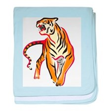 Fierce Tiger baby blanket