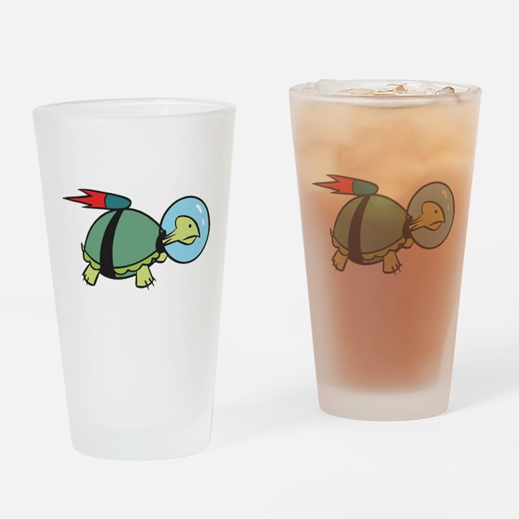 Space Turtle Pint Glass