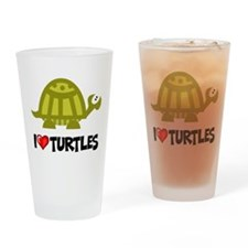 I Love Turtles Pint Glass