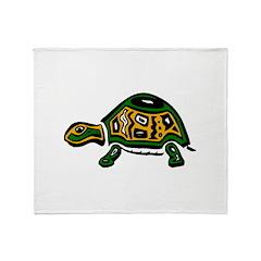 Tribal Turtle Throw Blanket