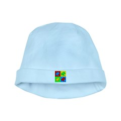 Pop Art Turtle baby hat
