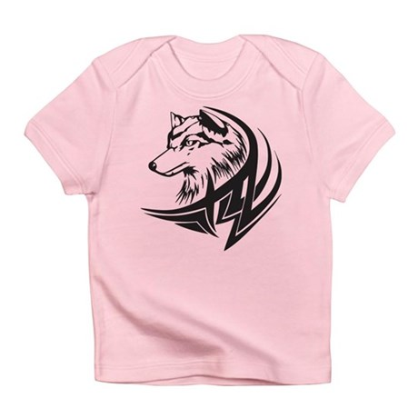 Tribal wolf tattoo infant t shirt for Tribal tattoo shirt