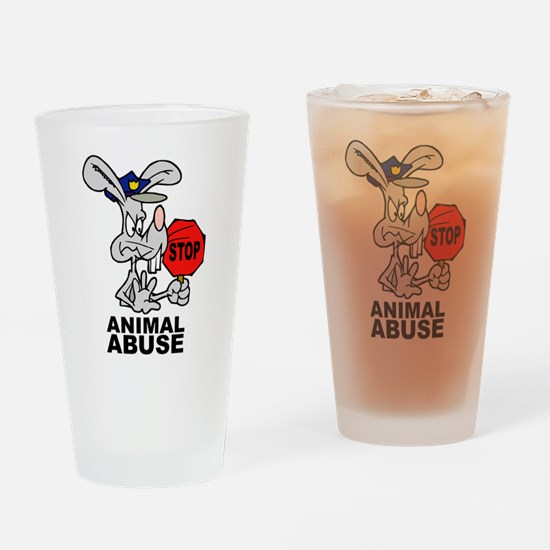 Stop Animal Abuse Pint Glass