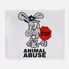 Stop Animal Abuse Throw Blanket