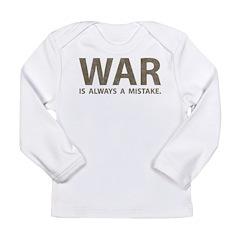 Anti-War Long Sleeve Infant T-Shirt