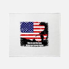 Anti War Throw Blanket