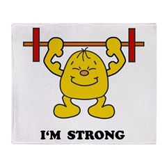 I'm Strong Throw Blanket