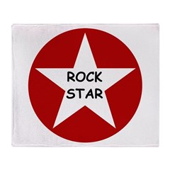 Rock Star Throw Blanket