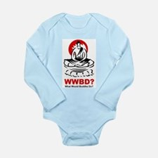 What Would Buddha Do? Long Sleeve Infant Bodysuit