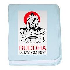 Buddha Is My Om Boy baby blanket