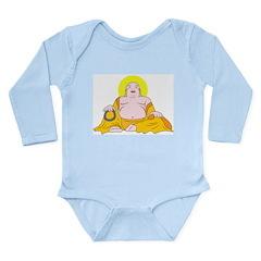 Happy Buddha Long Sleeve Infant Bodysuit