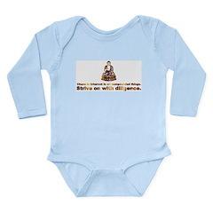 Buddha Quote Long Sleeve Infant Bodysuit