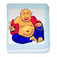 Happy Buddha baby blanket