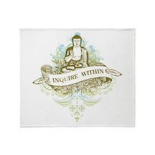 Buddha Inquire Within Throw Blanket