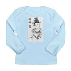 Vintage Guan Yin Long Sleeve Infant T-Shirt