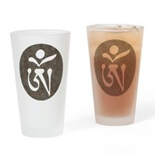 Tibetan Om Pint Glass