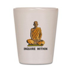 Inquire Within Shot Glass