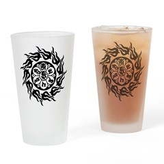 Tribal Om Mani Padme Hum Pint Glass