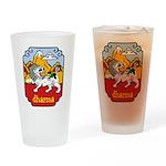 Snow Lion + Dharma Pint Glass