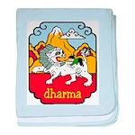 Snow Lion + Dharma baby blanket
