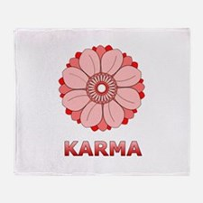 Lotus Throw Blanket