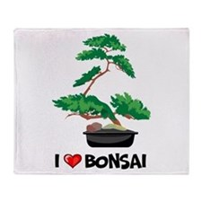 I Love Bonsai Throw Blanket