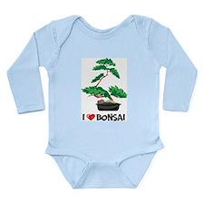 I Love Bonsai Long Sleeve Infant Bodysuit