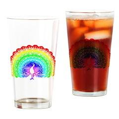 Rainbow Peacock Pint Glass
