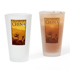 Vintage Great Wall Of China Pint Glass