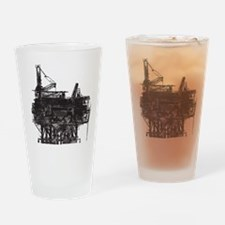 Vintage Oil Rig Pint Glass