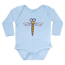 Cute Dragonfly Long Sleeve Infant Bodysuit