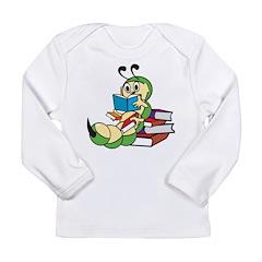 Cute Bookworm Long Sleeve Infant T-Shirt