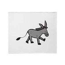 Cute Donkey Throw Blanket