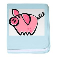 Cute Cartoon Pig baby blanket
