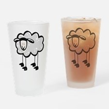 Cute Cartoon Sheep Pint Glass