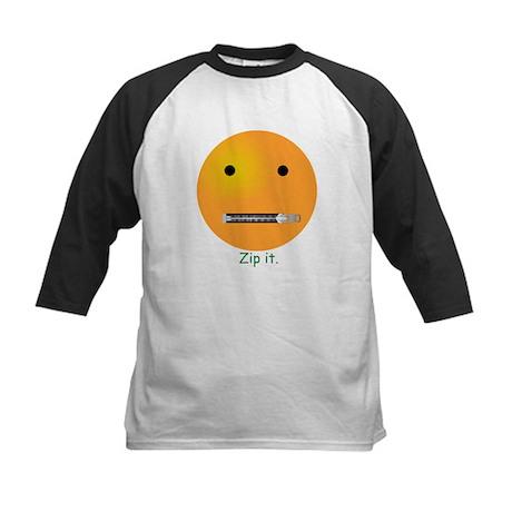 Zip It Smiley Face Emoticon Kids Baseball Jersey